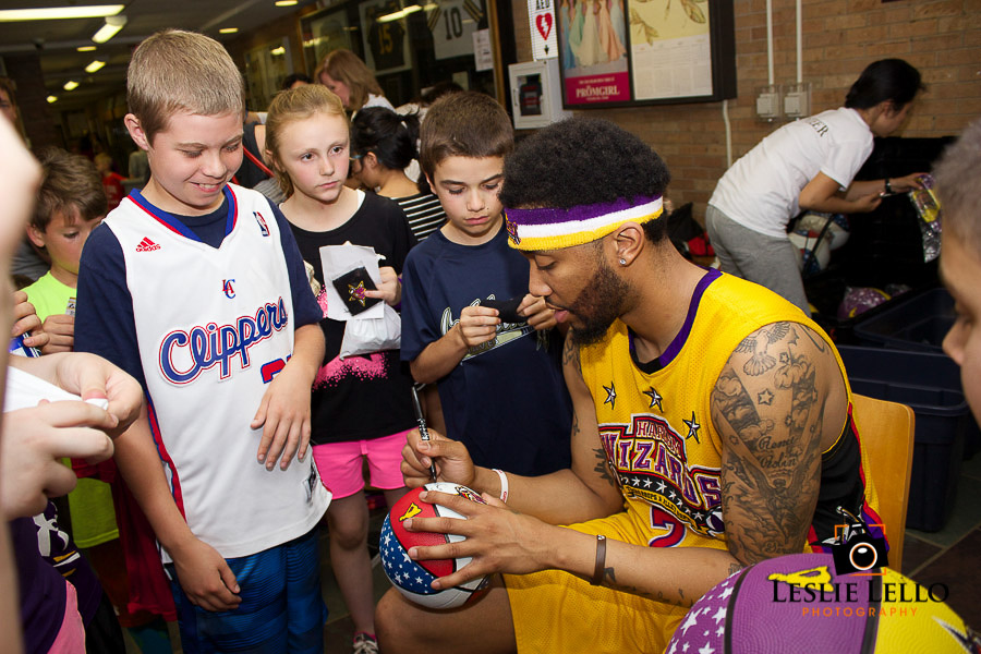 Event photography Leslie Lello, Harlem Wizards in River Edge, New Jersey